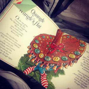 This is from the the book above. It's called The Quangle Wangle's Hat, it was my favourite thing in there because it had all of Edward Lear's character's come into it. It was a top mash-up.
